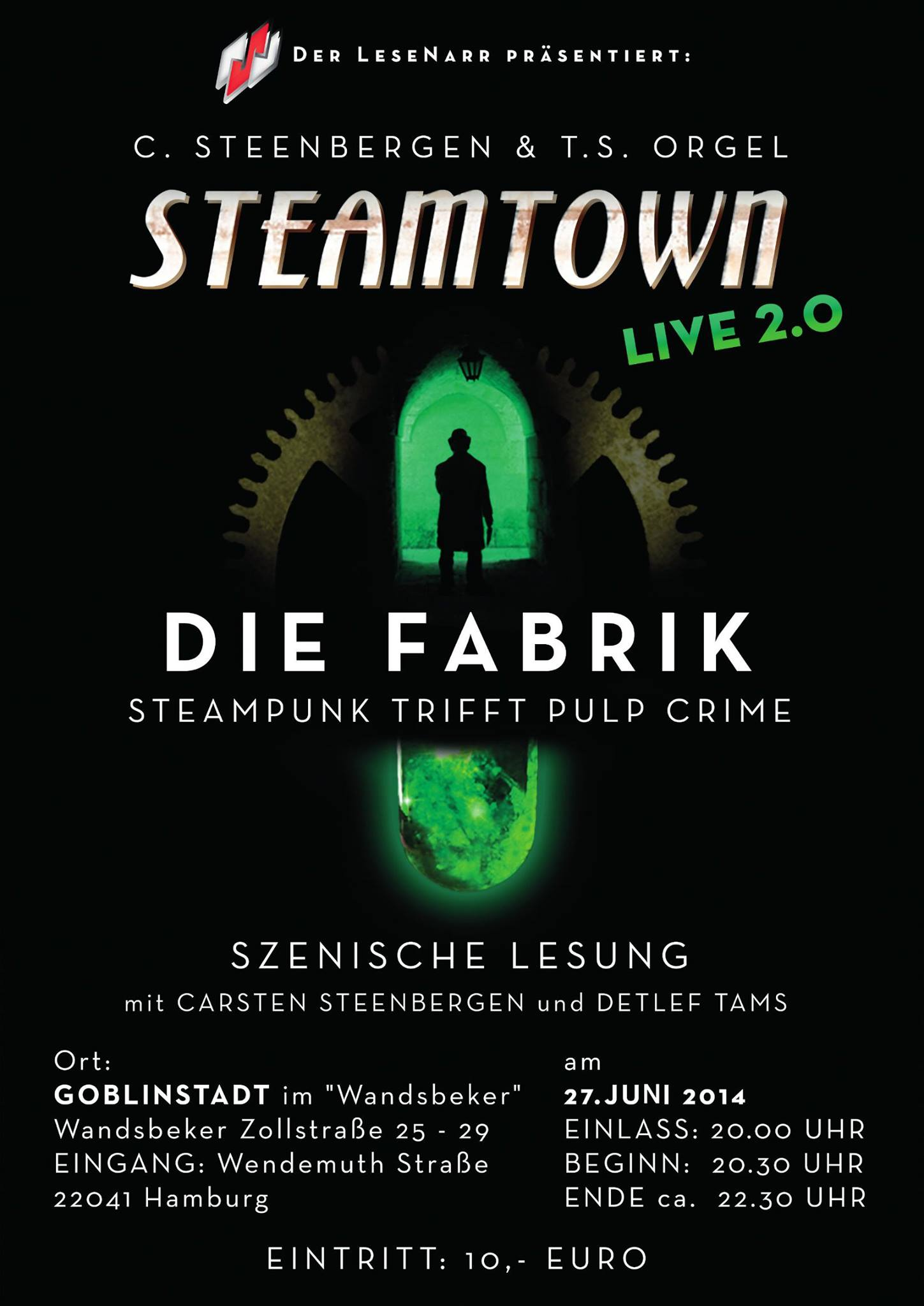 Steamtown LIVE am 27.06.14 in Hamburg